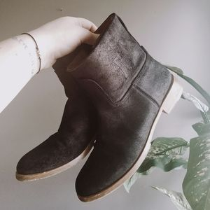 Rag & Bone Genuine Leather Black Pull on Booties